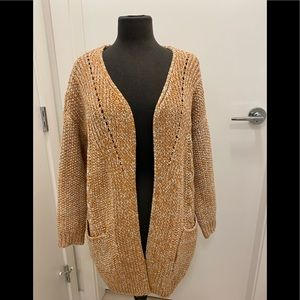 Orange Cable Knit Cardigan S